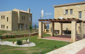 New villa with a plot, a terrace and a view of the sea and the mountains, on the first line from the beach, Chania, Greece for 799,000 €