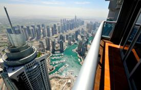 Property for sale in UAE. Half floor penthouse on top floor with panoramic views of the sea in the area of Dubai Marina