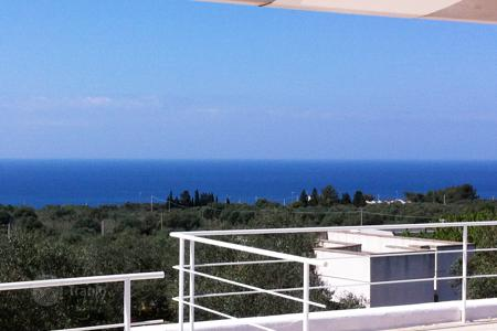 3 bedroom houses by the sea for sale in Italy. Villa with a terrace, a garden, a view of the sea and an olive grove, close to the beach, Castrignano del Capo, Italy