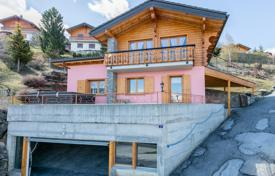 3 bedroom houses for sale in Alps. Spacious chalet with a jacuzzi, a large terrace and mountain views, Nendaz, Swiss Alps