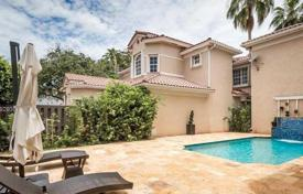 Two-level premium class villa with a pool in Golden Beach, Florida, USA. Price on request