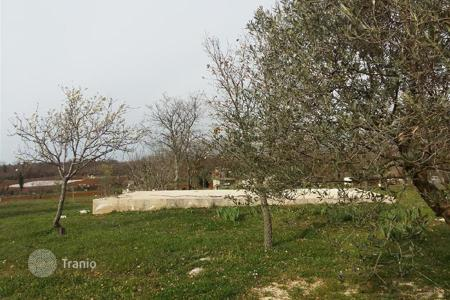 Land for sale in Porec. Building land Plot with already started foundations near Poreč!