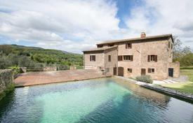Luxury 6 bedroom houses for sale in Sarteano. Old villa built on Roman walls with stone swimming pool and olive trees, 5 minutes from the center of Sarteano, Tuscany, Italy