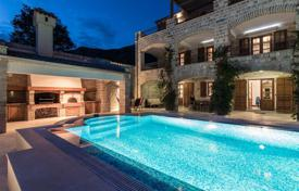 Spacious villa with a garden, a pool, a garage and a private coastline with a dock, Risan, Montenegro for 3,300,000 €