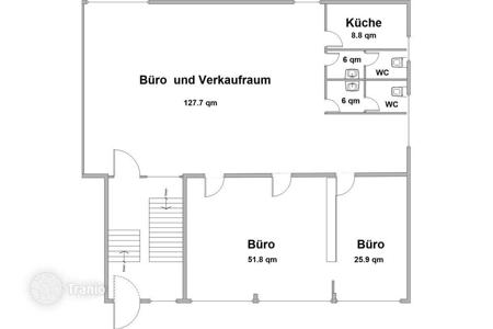 Commercial property to rent in Germany. 3-room Office For Rent in Efringen-Kirchen