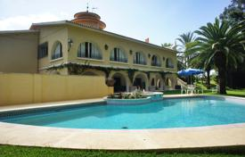 Luxury houses with pools for sale in Marbella. Farm with spacious villa, plantations, gardens, a pool, a stables, a garage and sea and mountain views, Marbella, Spain