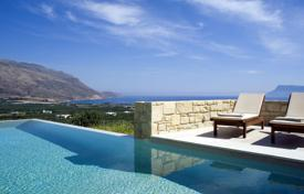 2 bedroom villas and houses to rent in Greece. Villa Oneiro is a two storey, two bedroom villa featuring a spacious, natural stone terrace to the front and sides of the property