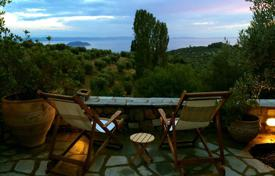 2 bedroom houses for sale in Sithonia. Modern furnished cottage with panoramic views of the sea, forest and the city, with parking, on the Sithonia peninsula, Halkidiki region