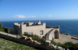 Off-plan residential for sale overseas. Two villas under construction, on the Adriatic cliff, with a terrace and a garden, Santa Maria di Leuca, Italy