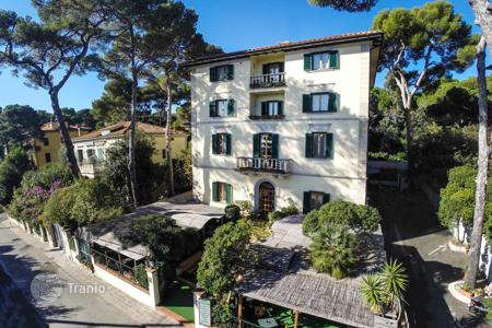 Commercial property for sale in Tuscany. Hotel in the historic building in a pine grove on the shore of the Tyrrhenian Sea, Tuscany