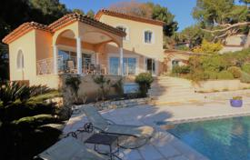 Houses with pools for sale in Vallauris. Modern villa with a pool, a garden, a parking and panoramic sea views, Vallauris, France