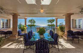Stylish sunny apartment on the first line from the ocean in Fisher Island, Florida, USA for $9,950,000