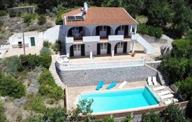 Houses with pools for sale in Faro. 4 bedroom villa with amazing distant sea views, Monchique, West Algarve
