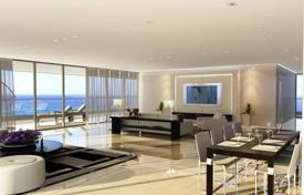 Apartments with pools for sale in Israel. Penthouse with a large terrace, in a new seaside residence, in Netanya, Israel