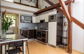 1 bedroom apartments for sale in Prague. Modern furnished duplex with a terrace and a view of Vysehrad, in a residential building, close to tram stops, Prague 4, Czech Republic