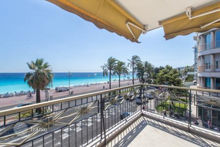 Coastal apartments for sale in Côte d'Azur (French Riviera). Furnished apartment with terrace in residence on the first sea line, Nice, France