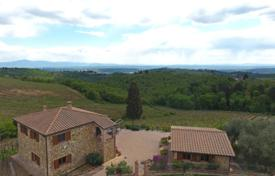 3 bedroom houses for sale in Tuscany. Historic two-storey stone house with a private plot, a garden and a panoramic view of the forest, Sinalunga, Italy