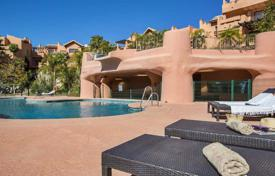2 bedroom apartments for sale in Estepona. Spacious apartment with a garage, a terrace and a sea view in urbanization with a garden and a pool, Estepona, Spain