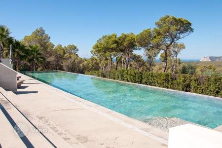 6 bedroom houses for sale in Ibiza. Contemporary newly built villa close to Cala Jondal