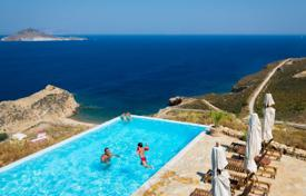 5 bedroom villas and houses to rent in Aegean Isles. This fantastic very private villa with an amazing pool is found in just 150 meters from the beach, in Patmos island. It offers com