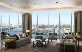 Property for sale in Western Europe. Furnished two-bedroom apartment on the banks of the Thames in Canary Wharf, London, UK