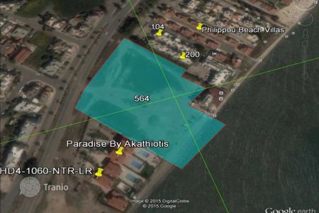 Development land for sale in Larnaca (city). Beach Front Building Land