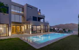 Apartments with pools for sale in Greece. Spacious modern villa with a pool, Drafi, Greece