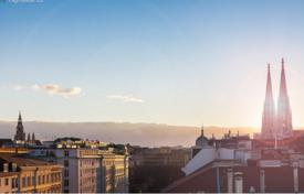 Luxury apartments for sale in Vienna. Duplex penthouse with a balcony and a rooftop terrace with views of St. Stephen's Cathedral, Vienna, Austria