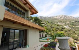 Houses with pools for sale in Èze. Villa with a panoramic sea view and an independent guest apartment, on a plot with a pool, a garden and a garage, Ez, Cote d'Azur