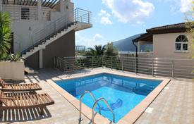 5 bedroom houses by the sea for sale in Montenegro. A three-storey villa with a swimming pool and views on the Boko-Kotorska Bay