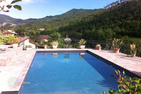 "Houses with pools for sale in Garlenda. The prestigious ""Villa Nicola"" is situated in Garlenda in the exclusive Prati location"