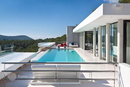 Property for sale in Ibiza. Modern villa on a hill with the sea view