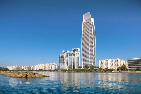 New homes for sale in Cyprus. High-rise residential complex on the seafront spa, pools, restaurants and a car park