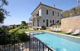 Renovated villa with a swimming pool, a parking, terraces and views of the sea and the mountains, in a prestigious area, Cannes, France for 3,490,000 €