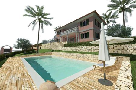 Off-plan houses with pools for sale in Europe. Luxury Villa in Bordighera, Liguria