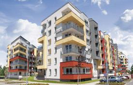 New homes for sale in Prague. Apartments of different size with balconies in a new residential complex, Prague, Czech Republic