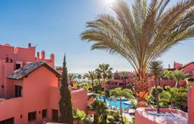 Apartments with pools for sale in Andalusia. Stunning frontline beach penthouse in Torre Bermeja, Estepona