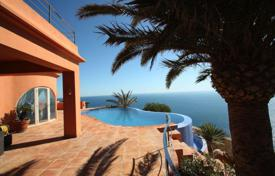 Luxury houses with pools for sale in Alicante. Modern villa with a panoramic swimming pool, on the sea front in Javea