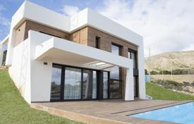 Houses with pools for sale in Finestrat. Two-level new villa with a pool and a garden, Finestrat, Costa Blanca, Spain