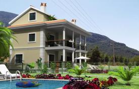 Off-plan property for sale overseas. Villa with a view of mountains and sea in Fethiye