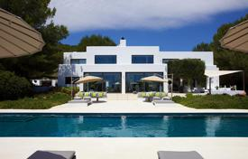 Luxury 6 bedroom villas and houses to rent in Spain. Renovated seaview villa on a plot with a pool, a children's playground and a fruit orchard, Santa Gertrudis, Ibiza, Spain