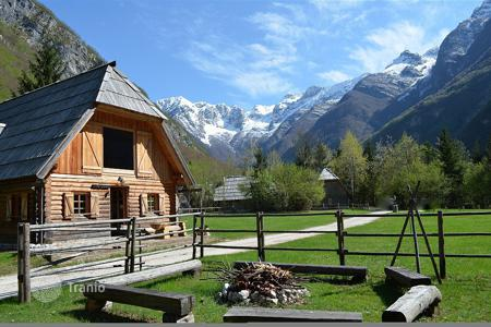 Business centres for sale in Lepena. This is an award winning small hotel complex in the Soca Valley. With Chalet accommodation, swimming pool, restaurant and considerable land