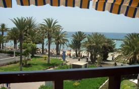 Apartments with pools for sale in Playa. Ocean front flat on the first line in Playa de las Americas
