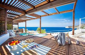 Residential to rent in Es Cubells. Luxury villa on the beach with a pool and a barbecue in Es Cubells, Ibiza, Spain
