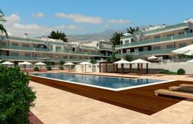 New homes for sale in Canary Islands. New apartment with a terrace and a view of the mountains, in a residence with two swimming pools and a vista point, near the beach, Tenerife
