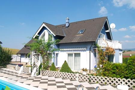 3 bedroom houses for sale in the Czech Republic. Two-storey house with a pool and views of the mountains in the Czech Republic, Dolní Branná