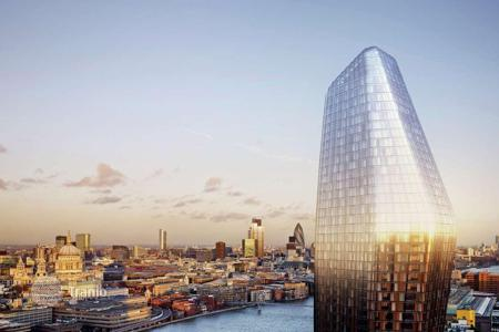 Luxury 2 bedroom apartments for sale in Europe. New two-bedroom apartment with panoramic views of the River Thames, in rare architectural project in central London