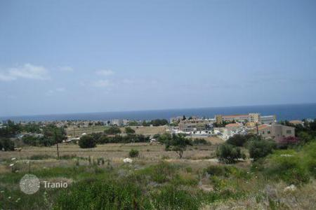 Coastal land for sale in Paphos. 4 x Elevated Plots Overlooking Sea — Chlorakas