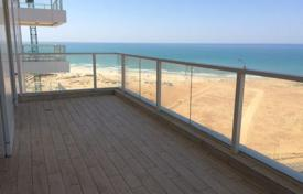 New homes for sale in Israel. The new four-room apartment with a terrace and with overlooking the sea in Netanya