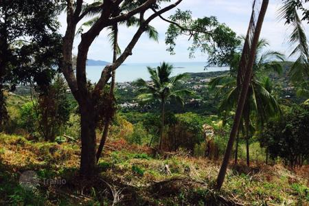 Land for sale in Thailand. The site overlooks the bay near Bophut